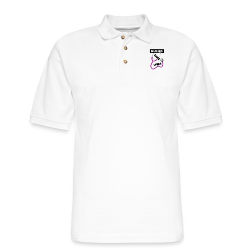 Nurses save lives pink - Men's Pique Polo Shirt