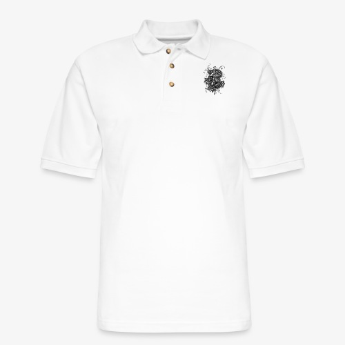Dagger And Snake - Men's Pique Polo Shirt