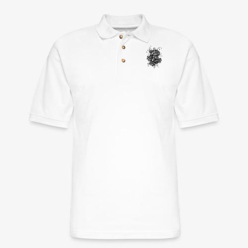 Dagger And Snake - Men's Pique Polo Shirt