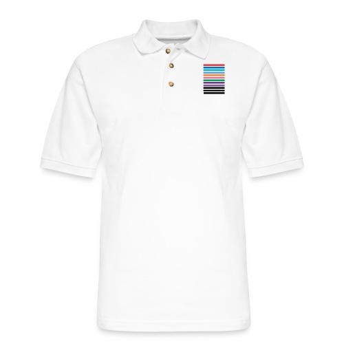 Lines - Men's Pique Polo Shirt
