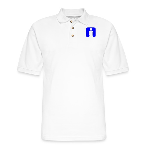 Blue Nurse Icon - Men's Pique Polo Shirt