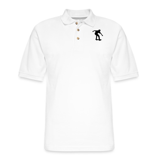 Boy On Skateboard Silhouette - Men's Pique Polo Shirt