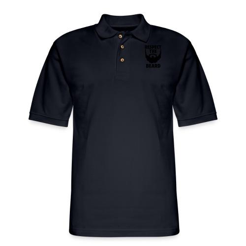 Respect the beard 05 - Men's Pique Polo Shirt