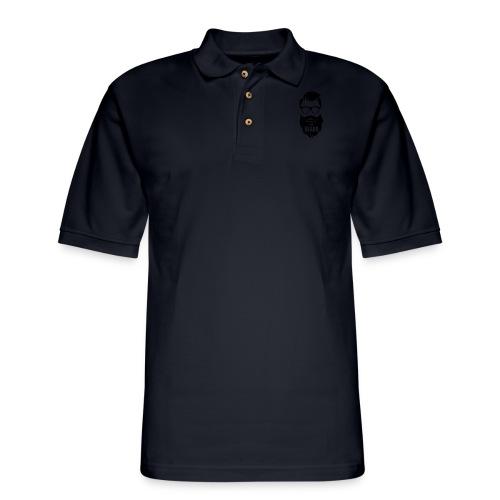 Respect the beard 08 - Men's Pique Polo Shirt