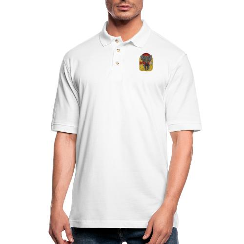 Yellow Smoke Elephant by DooM49 - Men's Pique Polo Shirt