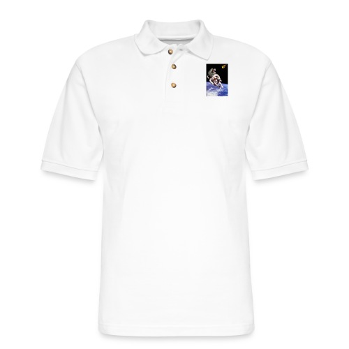 how dinos died - Men's Pique Polo Shirt