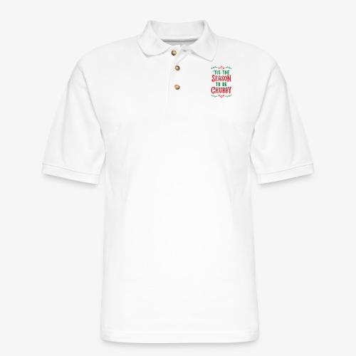 'Tis The Season To Be Chubby v2 - Men's Pique Polo Shirt