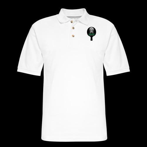 Bar Pong Paddle Logo - Men's Pique Polo Shirt