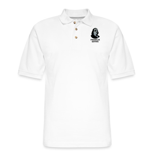 Franklin Gothic - Men's Pique Polo Shirt