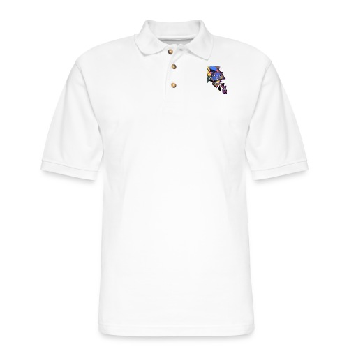 Face Me Artwork - Men's Pique Polo Shirt