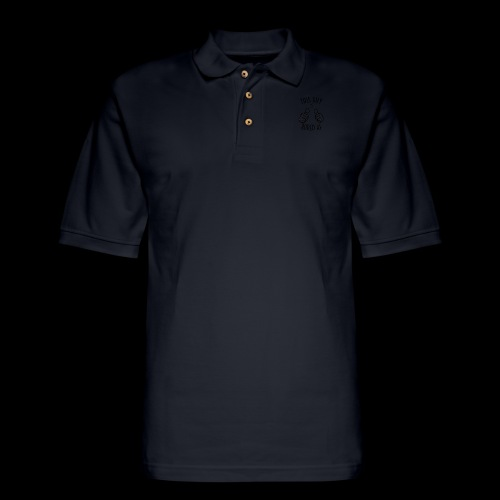 This Guy is Bored As F*#k - Men's Pique Polo Shirt