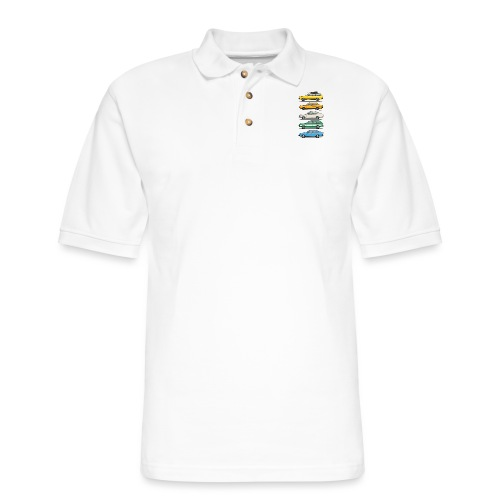 Stack of VAG B1 VDubs and Four Rings - Men's Pique Polo Shirt