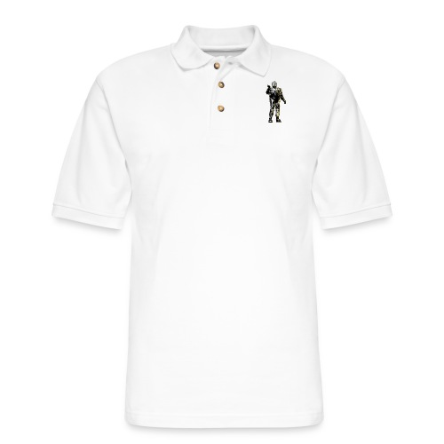 JorgeCop_blackandwhite - Men's Pique Polo Shirt