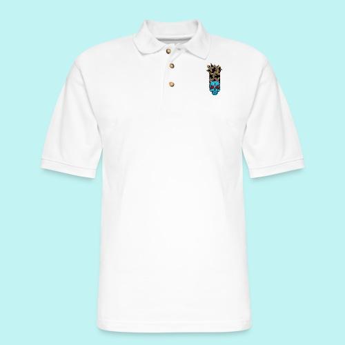 90s KID SKULLY - Men's Pique Polo Shirt