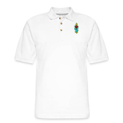 hand holding heart - Men's Pique Polo Shirt