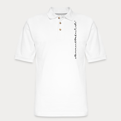 Movement Maker Tribe (side) - Men's Pique Polo Shirt