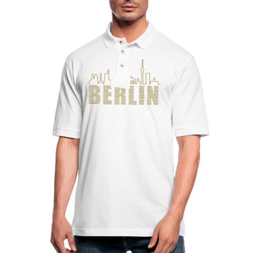 Skyline of Berlin - Men's Pique Polo Shirt