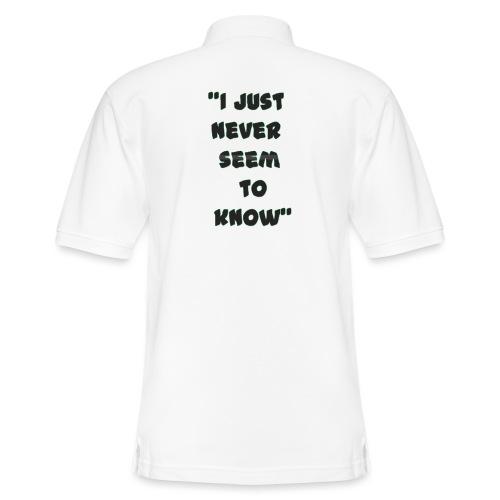 know png - Men's Pique Polo Shirt
