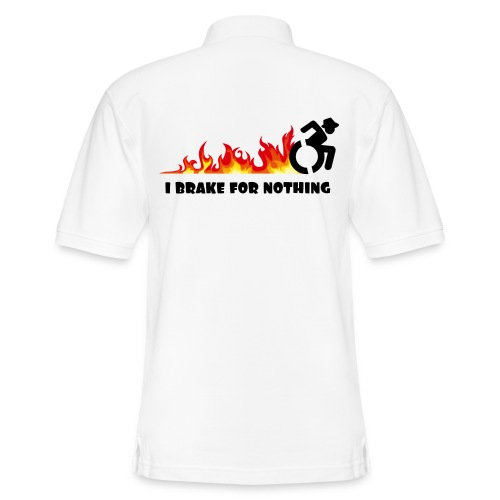 I brake for nothing with my wheelchair - Men's Pique Polo Shirt
