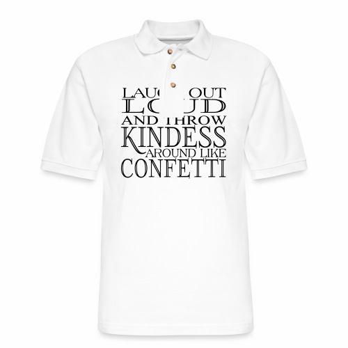KINDESS CONFETTI - Men's Pique Polo Shirt