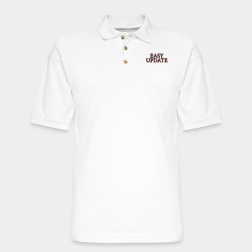 Easy Update Logo Red - Men's Pique Polo Shirt