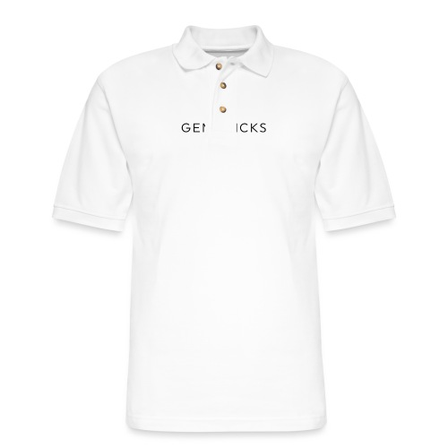 Gem Picks - Black Text - Men's Pique Polo Shirt