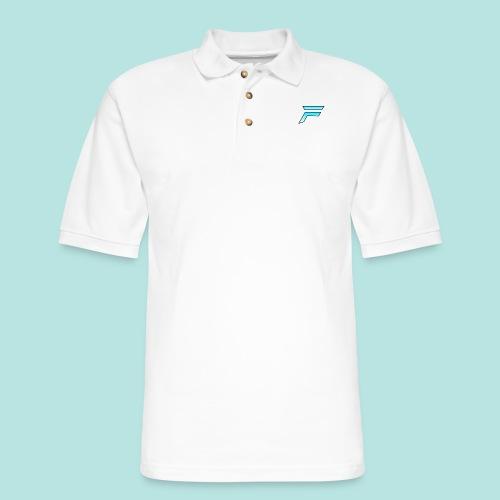 #furytfup Fade sharp logo - Men's Pique Polo Shirt
