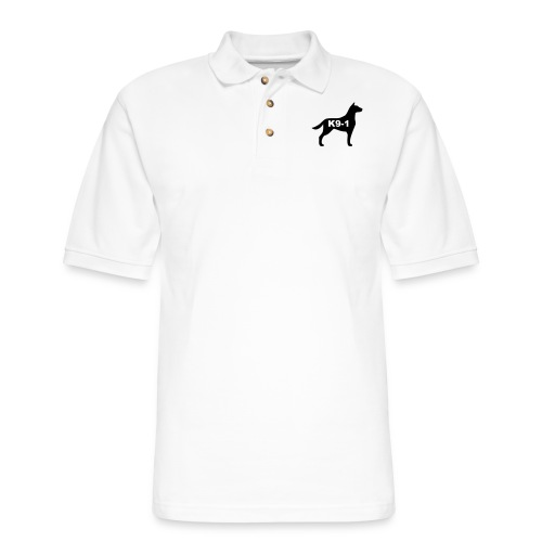 k9-1 Logo Large - Men's Pique Polo Shirt