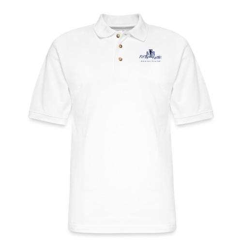 FitbyFaith back png - Men's Pique Polo Shirt