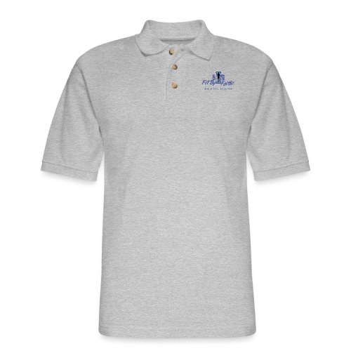 FitbyFaith back png - Men's Pique Polo Shirt