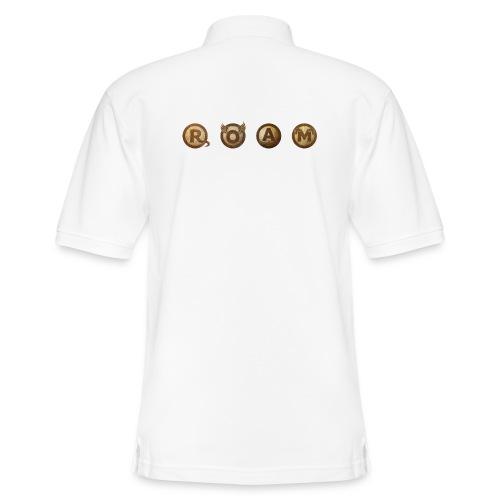 ROAM letters sepia - Men's Pique Polo Shirt