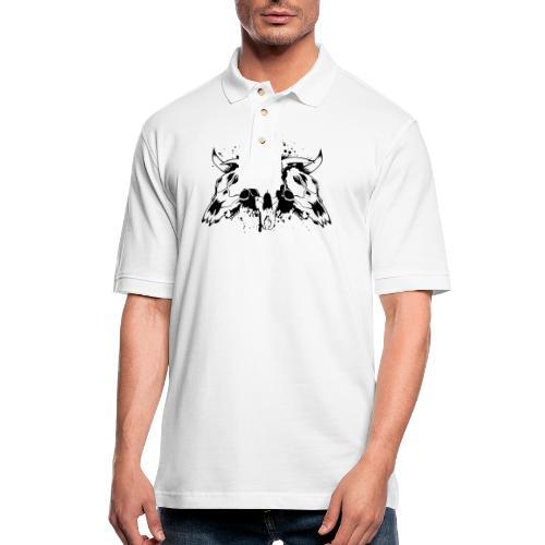 skull bull 3 - Men's Pique Polo Shirt