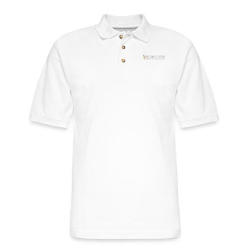 white logo, keep calm and hiit it white - Men's Pique Polo Shirt