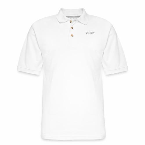 Fox with quote - Men's Pique Polo Shirt