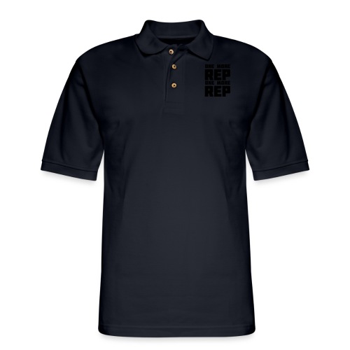 one more rep one more rep - Men's Pique Polo Shirt