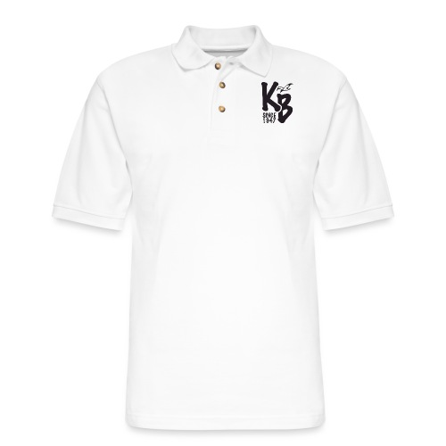 Kure Beach Day-Black Lettering-Front and Back - Men's Pique Polo Shirt