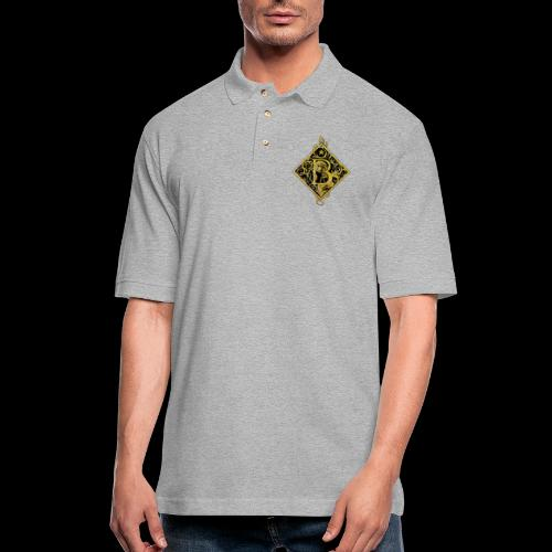 NAME STARTS WITH B MONOGRAM FANCY BEE! - Men's Pique Polo Shirt
