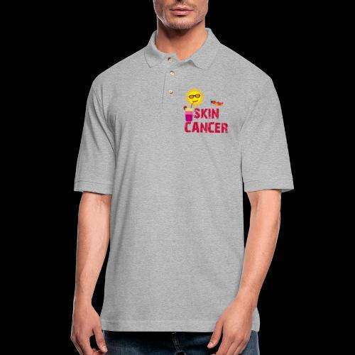 SKIN CANCER AWARENESS - Men's Pique Polo Shirt