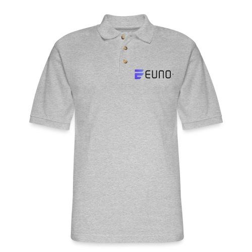 EUNO LOGO LANDSCAPE BLACK FONT - Men's Pique Polo Shirt