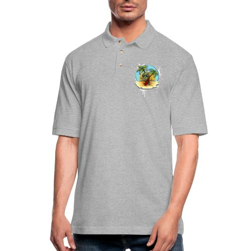 let's have a safe surf home - Men's Pique Polo Shirt