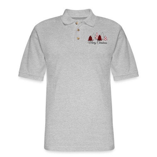 Country Christmas - Men's Pique Polo Shirt
