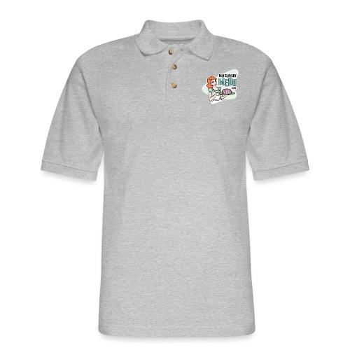 Mid-Century Menu Ruth Logo - Men's Pique Polo Shirt