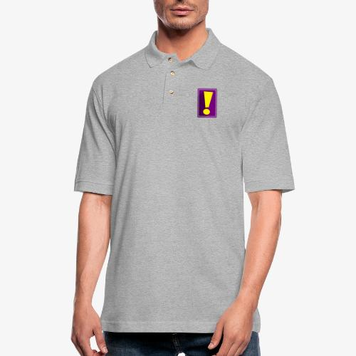 Purple Whee! Shadow Exclamation Point - Men's Pique Polo Shirt