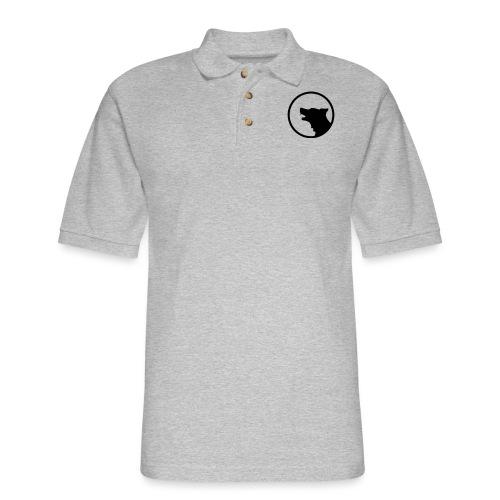 Wolf Silhouette Vector - Men's Pique Polo Shirt