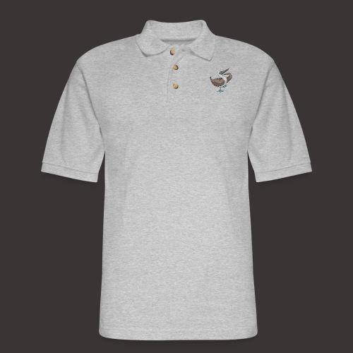 Boobie Bird Mating dance - Men's Pique Polo Shirt