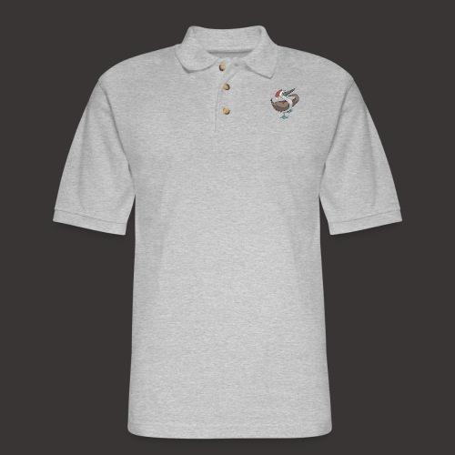 Boobie Bird Xmas Dance - Men's Pique Polo Shirt