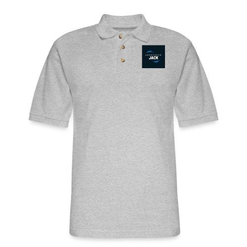 JackCodyH blue lightning bolt - Men's Pique Polo Shirt