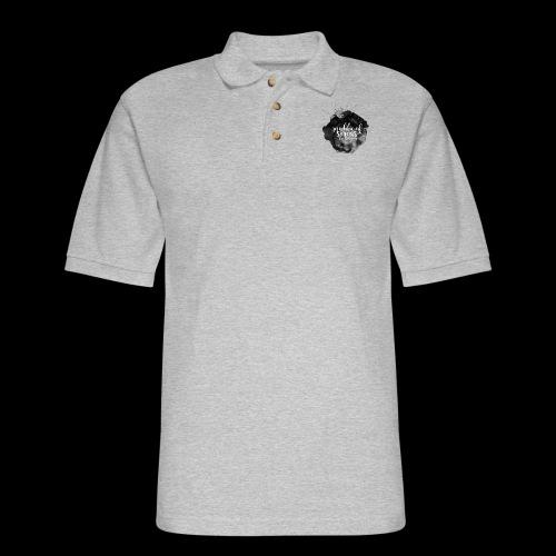 ROS FINE ARTS COMPANY - Black Aqua - Men's Pique Polo Shirt