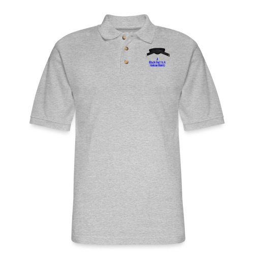 A Blackbelt Is A Human Bomb - Men's Pique Polo Shirt