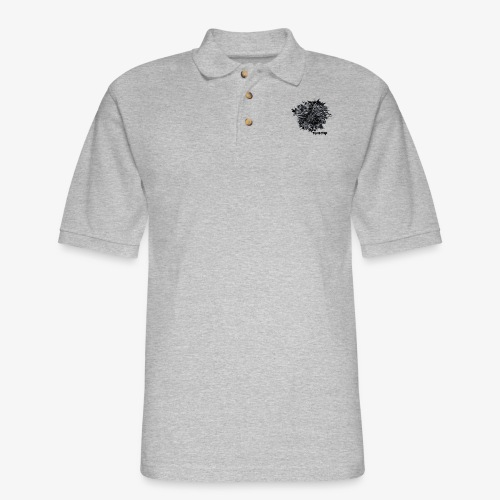 Glitched Orb - Men's Pique Polo Shirt